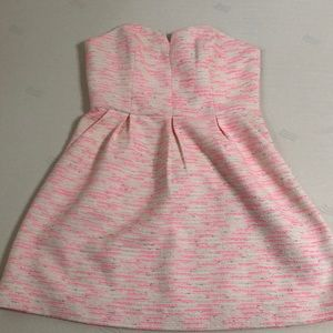 Tweed dress with pink neon detail - new with tags